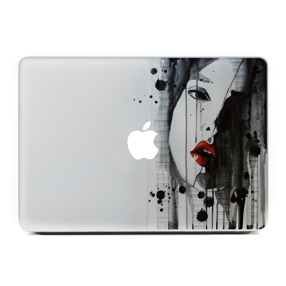 Sad girl avatar vinyl decal sticker for new macbook pro air 11 13 15 inch laptop case cover sticker