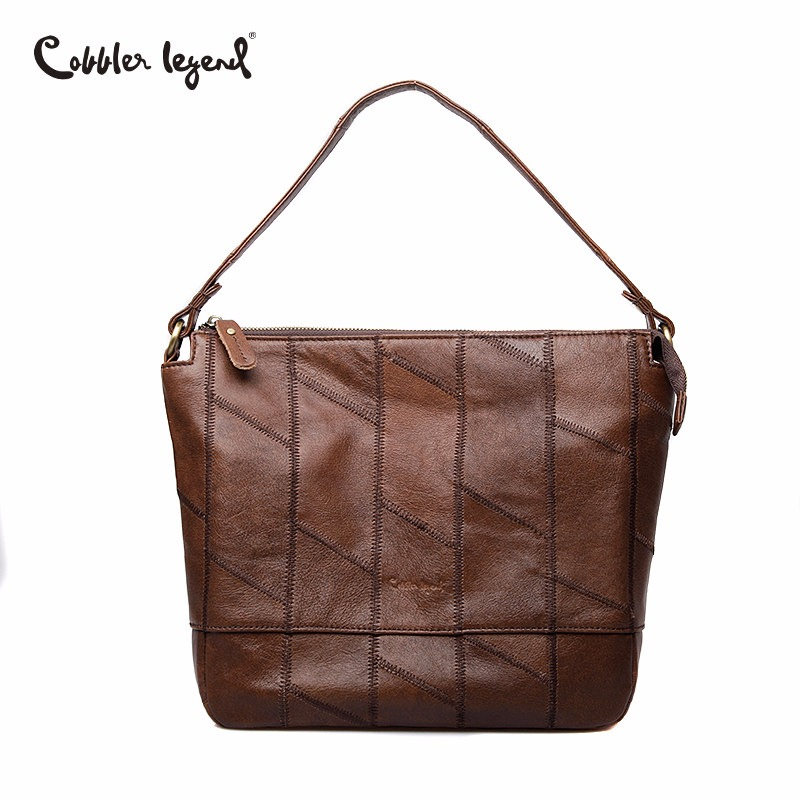 Cobbler Legend Brand Women Casual Handbag Genuine Leather Shoulder Bag Female Hobo Tote Bag Crossbody Messenger Bags Designer недорого