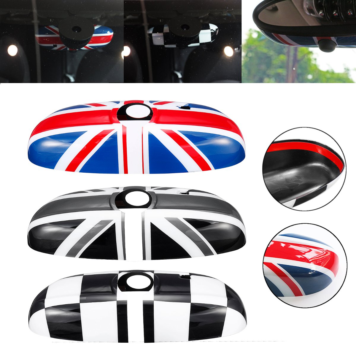 Artudatech 2 x Union Jack WING Mirror Covers for MINI Cooper R55 R56 R60 Power Fold Mirror