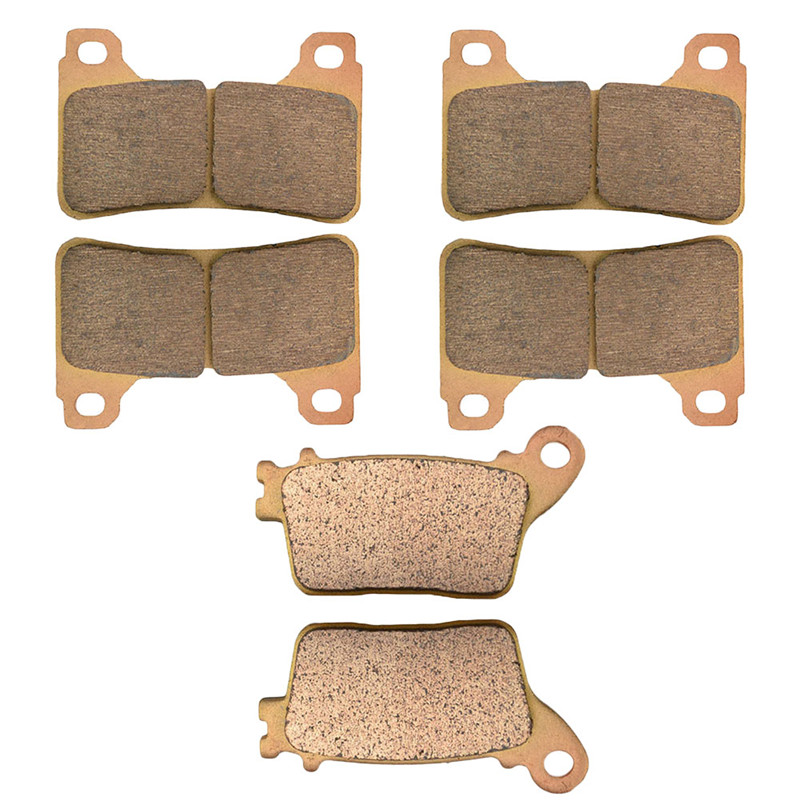 Motorcycle Front and Rear Brake Pads for Honda CBR600RR RRA CBR600 R RA9 CBR 1000 RR CBR1000 Sintered Brake Pads motorcycle front and rear brake pads for ktm egs lse exc 400 all models 1998 2006 black brake disc pad