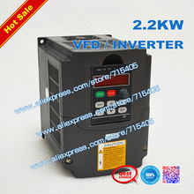 CNC Spindle motor speed control 220v 2.2kw VFD Variable Frequency Drive VFD Inverter 1HP or 3HP Input 3HP frequency inverter 2 2kw vfd inverter