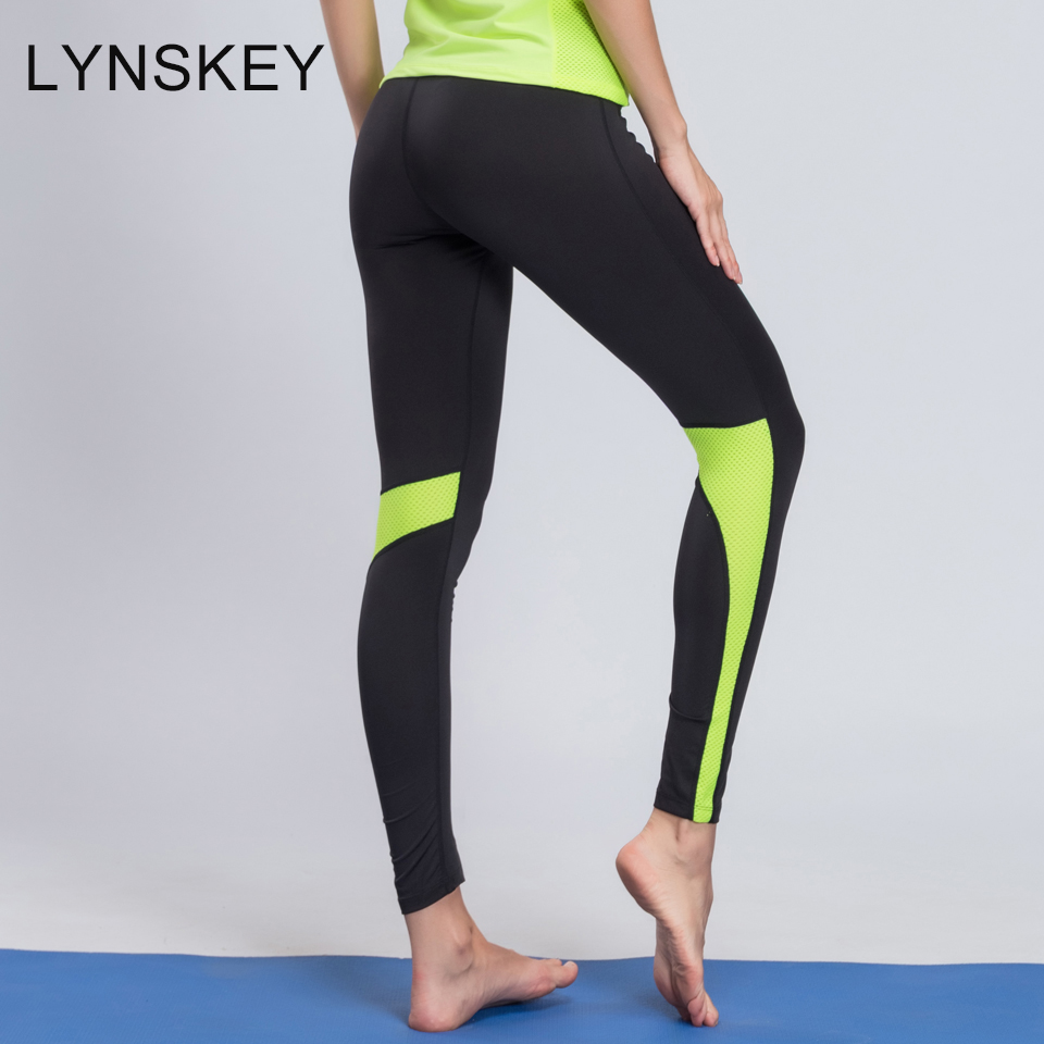 LYNSKEY Women Yoga Pants Quick Dry Running Tights Workout Yoga Leggings Fitness Compression Gym Jogging Breathable Sports Pants