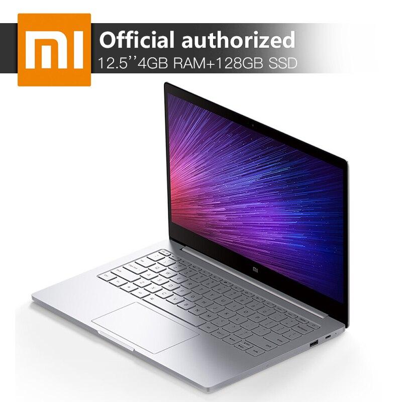 Xiaomi Mi Тетрадь Air 12,5 ''4 ГБ Оперативная память 128 ГБ SSD Intel Core M 7Y30 двухъядерный ультратонкий портативный компьютер Windows10 клавиатура с подсветкой