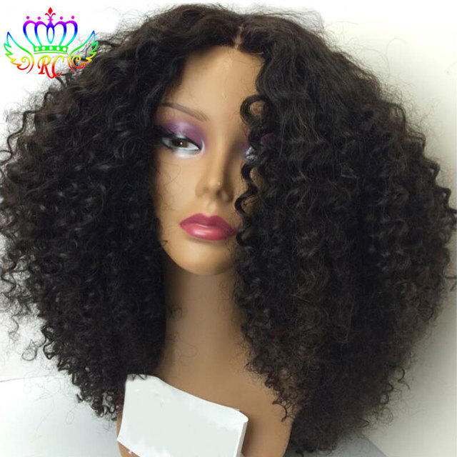 Nature Hairline Wig Store Kinky Curly Synthetic Half Wig for Black Women  Synthetic Lace Front Wigs with Baby Hair Free Shipping 4801140d7