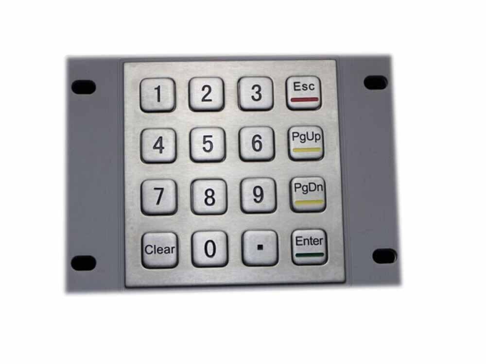 IP65 Metal keyboard waterproof Stainless steel keyboard Numeric keypad with 16 keys numeric keypad 19 keys