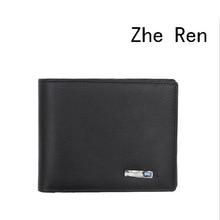 smart wallet Men's top head layer cowhide wallet smart bluetooth anti-theft fashion leather wallet