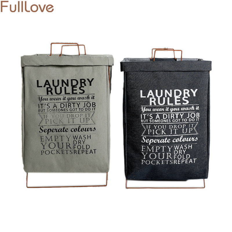 35*50cm Letters Printed Laundry Basket Nordic Clothes Baskets Toy Organizer 2018 New Storage Basket Home Storage & Organization