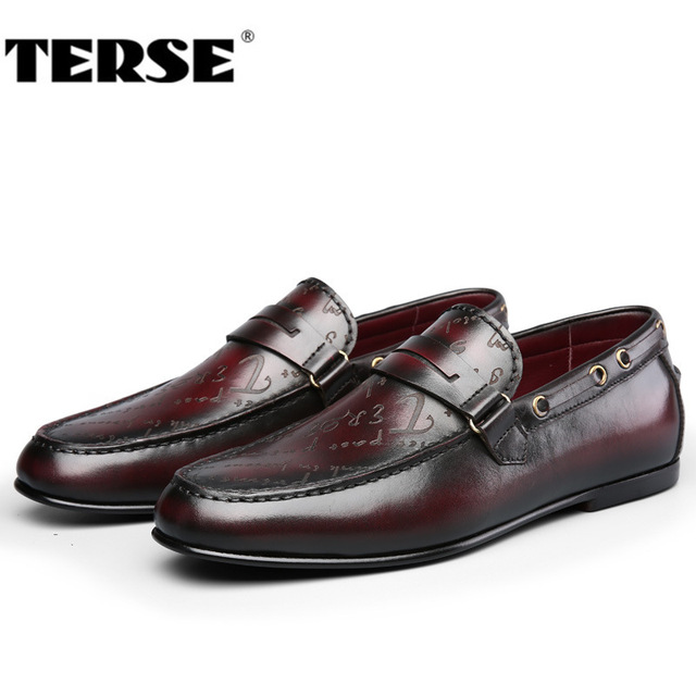 TERSE Handmade leather loafers shoes mens Italian calfskin genuine leather  dress shoes casual shoes goodyear welted flats eb7034c63ef