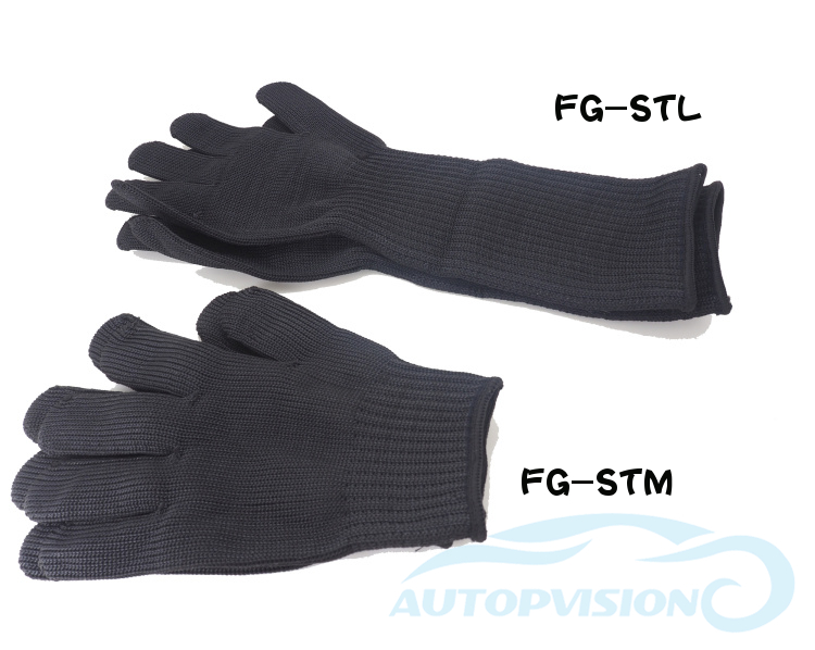 STL-40cm Working Protective Anti-Cut Gloves Black Hand  Protective Gloves Ripping For Garden Use For Self Defense Supplies