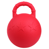 28cm Horse Play Game Toy Fruit Scented Jolly Ball With Apple Anti Burst Bounce Soccer Balls for Training Horse Pony Dog