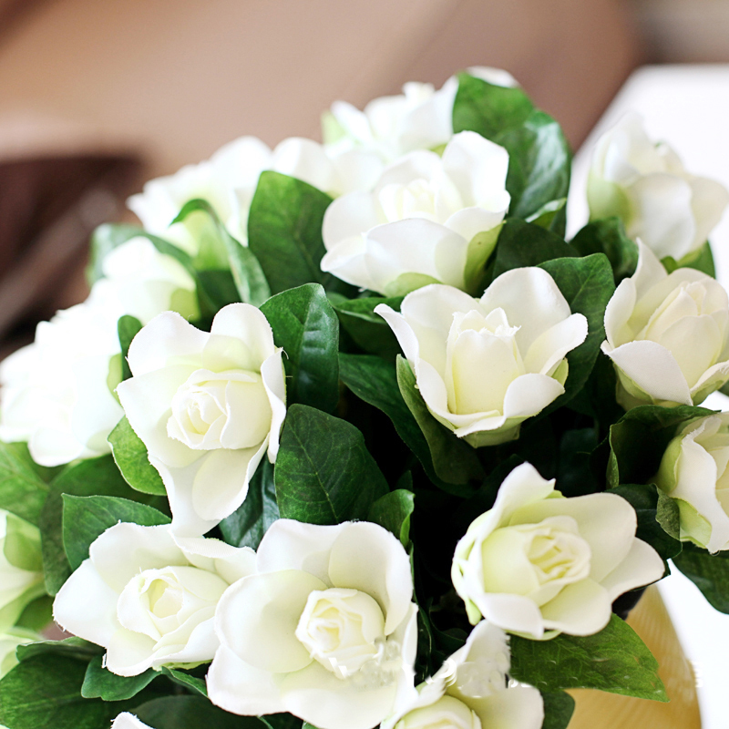 Aliexpress.com : Buy (6pcs/lot)elegant Gardenia Artificial Plants  Artificial Flower Silk Flower Artificial Flower Gardenia From Reliable Silk  Flowers ...