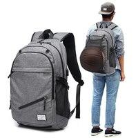 Anti Theft Backpack Men 2018 Canvas Back Pack Basket Ball Bag USB Charging School Bag For