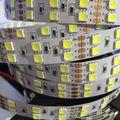 Nova DC 24 V RGB tira conduzida Duas Carreiras 120led/m SMD 5050 fita fita Flexível impermeável 600 led luz Branca quente 5 m Livre grátis