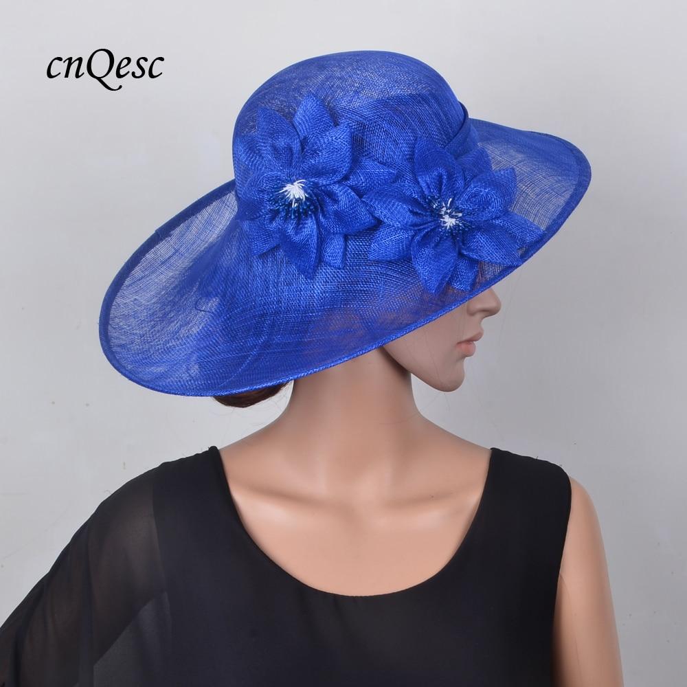c87b752efe7 Exclusive design Cobalt blue Large saucer Hatinator Sinamay Royal Wedding hat  Fascinator Fedora for Kentucky Derby