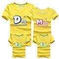 Nueva Impresión de la Letra de La Familia Look Camisetas 14 Colores de Verano algodón Ropa A Juego de Manga Corta Familia Papá Mamá Bebé Tops AF1534