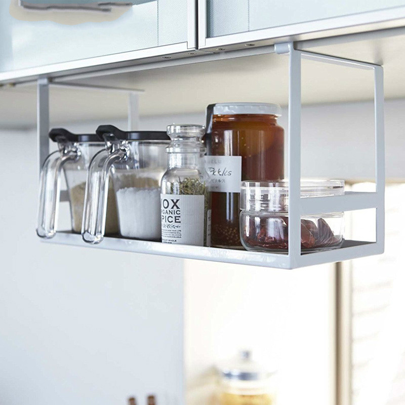 Kitchen shelves without perforated seasoning shelves kitchen accessories multifunctional kitchen seasoning shelves LU5184