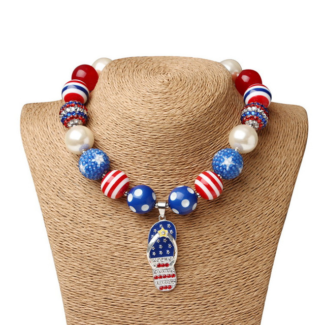 Statement american flag necklace for women beads teething necklace statement american flag necklace for women beads teething necklace pendants nursing necklace fit for american independence aloadofball Gallery