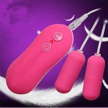 Вибратор Водонепроницаемый Дистанционное управление мини двойной массажер Яйцо вибратор секс-игрушки для женщины o7104 Прямая поставка