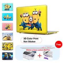 "Print Minion Despicable Case For Laptop Cover Apple Macbook Pro 13 15.4 Retina For Mac Book Air 11 13.3 12"" Inch Notebook Case"