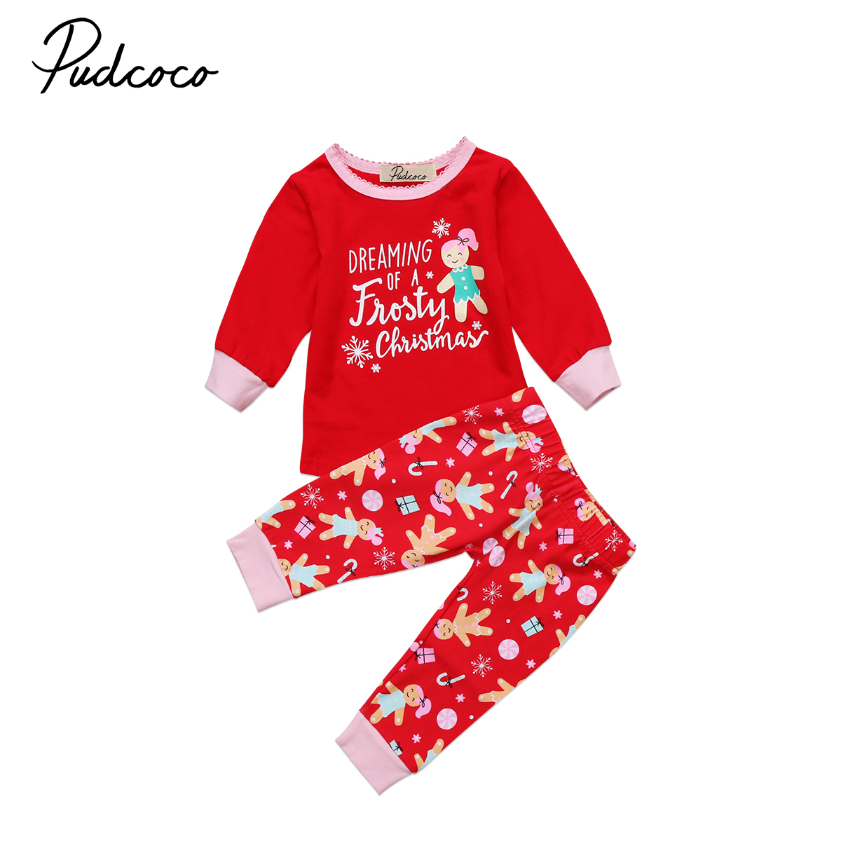 Newborn Toddler Baby Kids Girls Boys Clothes Sets Christmas Pajamas PJs Sets Xmas Sleepwear Nightwear Baby Girl Clothing set of clothes children girls boys baby clothing milk print 3pcs suit toddler kids christmas pajamas sleepwear top 2017 new