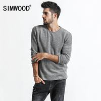 SIMWOOD Sweaters Men 2017 Autumn New Pullover Slim Fit Casual Knitted Sweater Plus Size Curl Hem