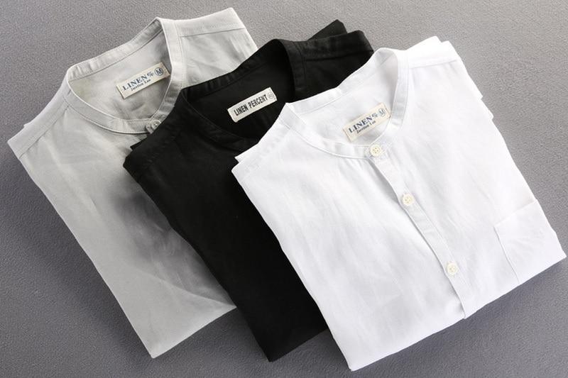 Brand Shirt Men Casual Slim Fit Designer Meeste särk Pikkade - Meeste riided - Foto 3