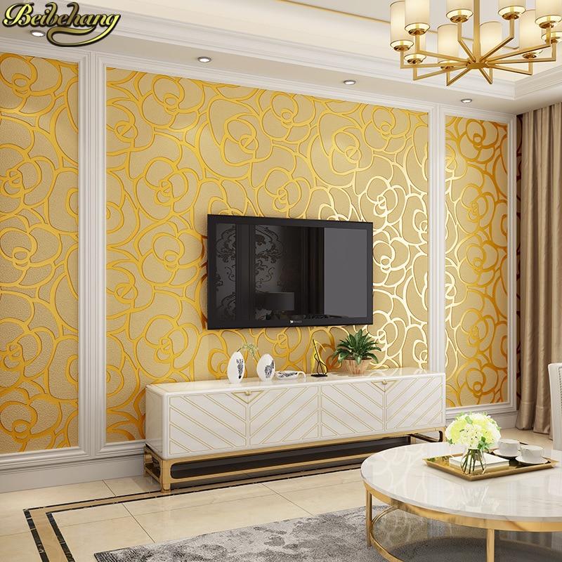 Beibehang papel parede 3D en relief Jane européenne papier peint salon chambre étude restaurant rose peau de daim 3D TV papier peint