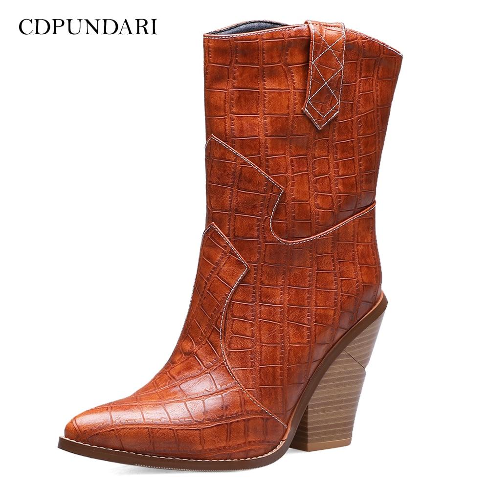 CDPUNDARI Cowboy boots for women High