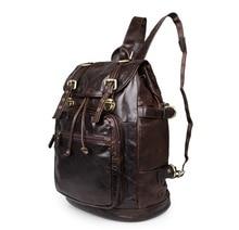 Vintage 100% Genuine Leather men bag Brand New men's travel bags business Shoulder Bags Cowhide Leather Men Backpacks #MD-J6085