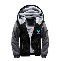 Batman Fleece Hoodies Superhero Thicken Winter Warm Zipper Sweatshirts Luminous Hooded Coat Casual Tracksuit Costume