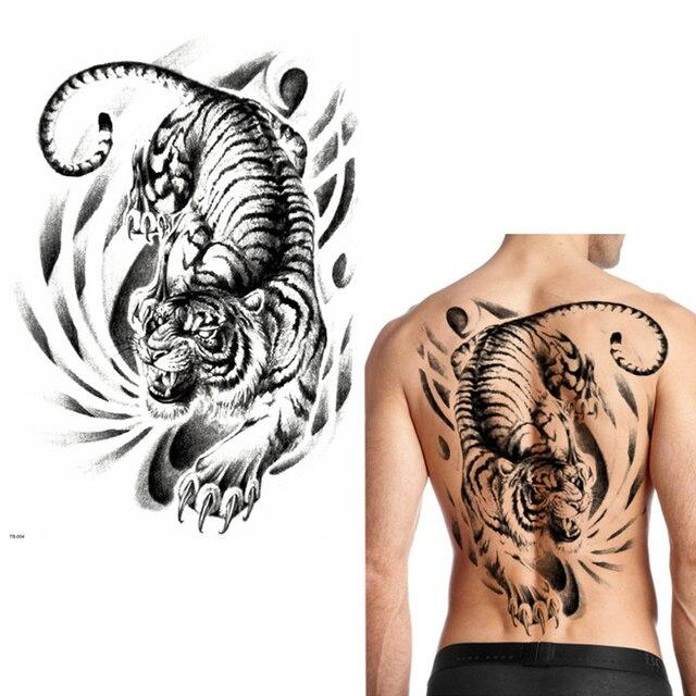 Lion Dragon Tiger Snake Temporary Tattoo Warrior Waterproof Flash