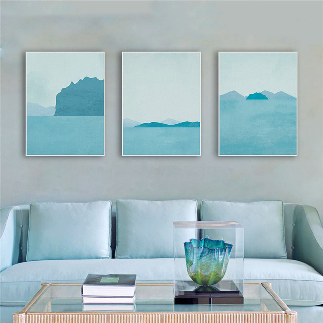 office backdrop. Office Backdrop. Haochu Seascape Abstract Blue Style Painting Nordic  Backdrop Decor Wall Art Picture Poster