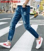 2017 New Men Activities Warm Jeans XIANGYIHUI High Quality Famous Brand Autumn Winter Jeans warm warm soft fallow men jeans 611