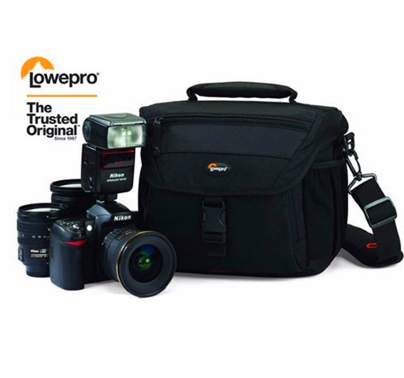 Wholesale Genuine Lowepro Nova 180 AW Black Shoulder Digital SLR Camera PhotoCamera Shoulder Bag Case With 360 All Weather Cove