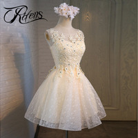 Urifens New 2018 Bridesmaid Diamonds Dress Women Hollow Out Backless Party Dresses O Neck Bow Sexy