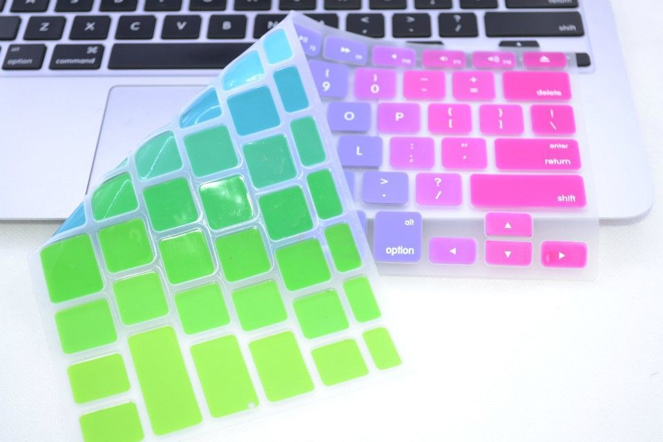 Book Cover Layout Keyboard ~ Gradient color rainbow silicone uk eu us layout cute