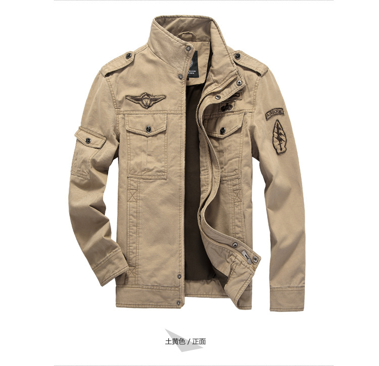 Cotton Military Jacket Men 2019 Autumn Soldier  MA-1 Style Army Jackets Male Brand Slothing Mens Bomber Jackets Plus Size M-6XL 17