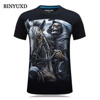 3D Men T Shirts Brand Clothing Slim Printed Horse Extended 3d T Shirt Bape Sports Plus