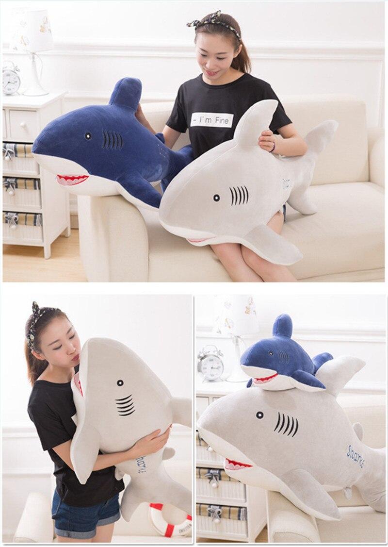 New Style Shark Plush Toys Big Fish Cloth Doll Whale Soft Stuffed Plush Animals Doll Children Birthday Gift 8