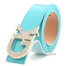 2016 Womens Letter GK Buckle Female Belt Knotted Belts Genuine Leather Decoration Solid Women Belts & Cummerbunds