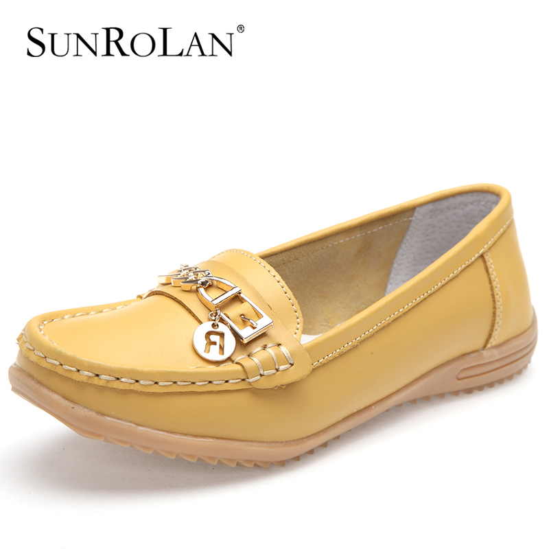 sunrolan plus size 11 12 shoes genuine leather