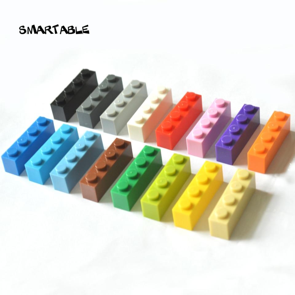 Smartable кирпич 1X4, высокие частицы, мелкие строительные блоки, детали DIY, Логотип, игрушки, совместимые со всеми брендами, 3010 игрушки, 63 шт./лот
