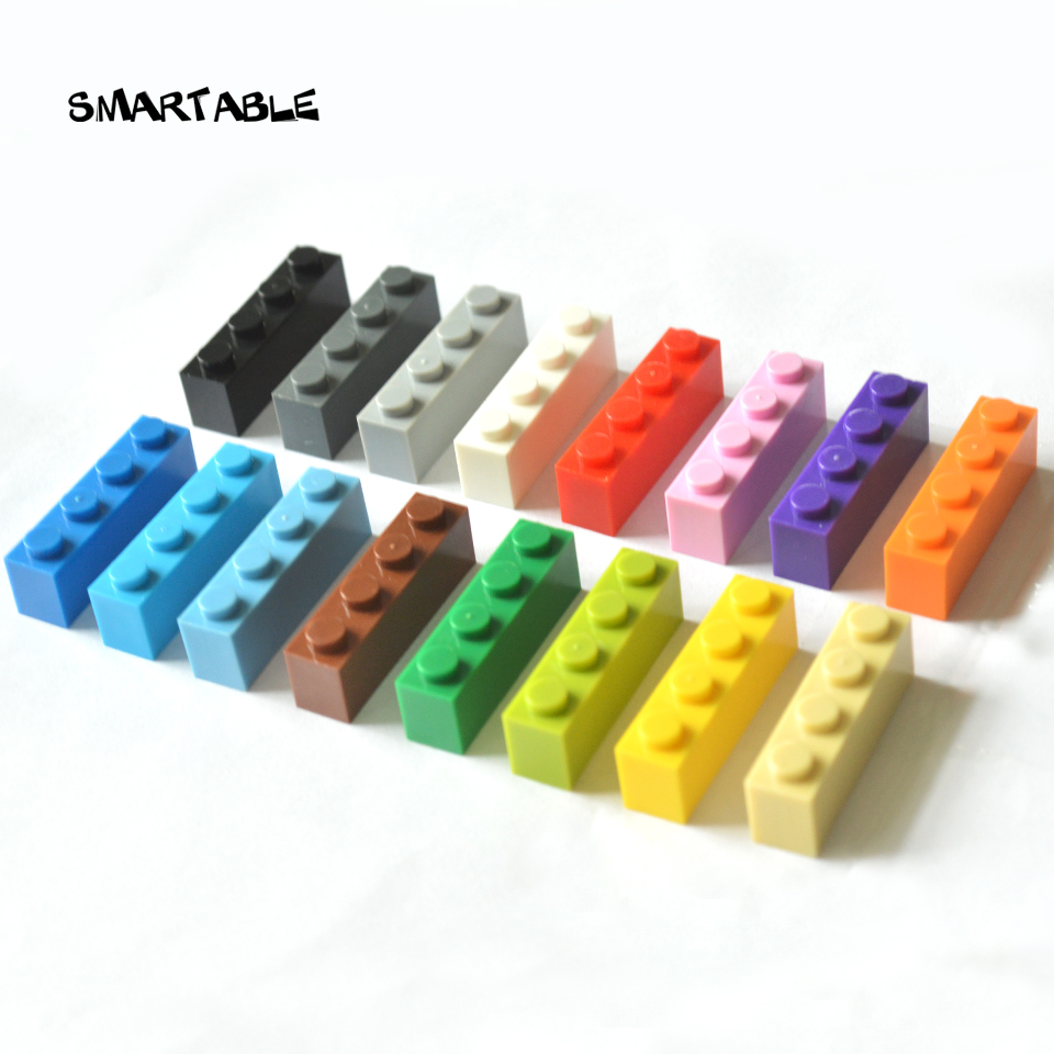 Smartable Brick 1X4 High Particles Small Building Blocks Parts DIY LOGO Toys Compatible All Brands 3010 Toys 63pcs/lot