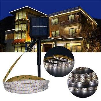 3M SMD2835 RGB Солнечная Светодиодная лента, Водонепроницаемая IP65 Солнечная лампа, 3 режима освещения, лента для наружного освещения, украшение