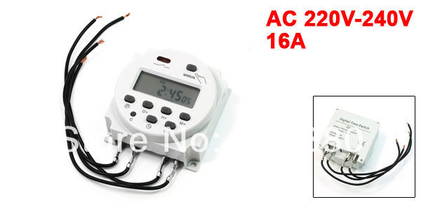AC 220V 240V 16A LCD Power Weekly Digital Programmable