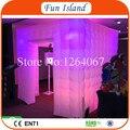 Бесплатная Доставка 3x3x2.4 м Надувные Photo Booth/Куб Надувные Photo Booth/LED Надувные Фото стенд Для Продажи