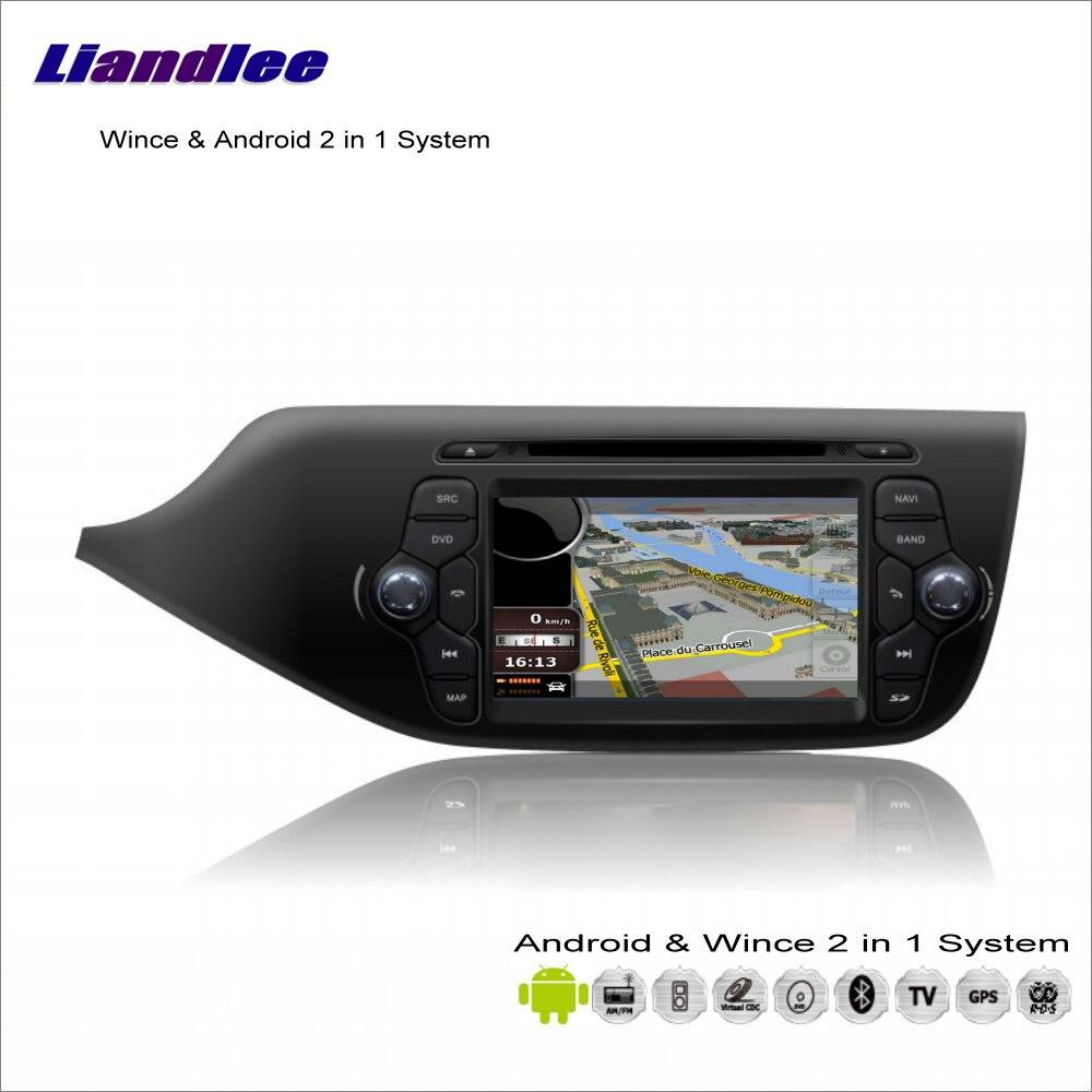 Liandlee автомобиля Android Мультимедиа Стерео для Kia Ceed 2013 ~ 2014 Радио CD dvd плеер GPS nav Географические карты навигации аудио видео s160 Системы