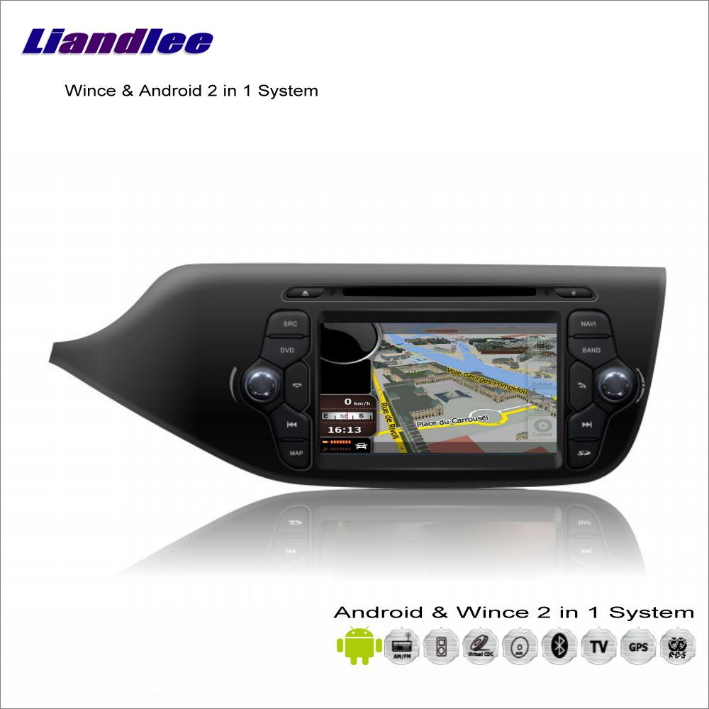 Liandlee Car Android Multimedia Stereo For KIA Ceed 2013~2014 Radio CD DVD Player GPS Nav Map Navigation Audio Video S160 System
