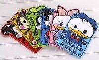 For Ipad Mini 3 Soft Case Cute Animal Cartoon 3D Minnie Mickey Donald Duck Silicon Skin
