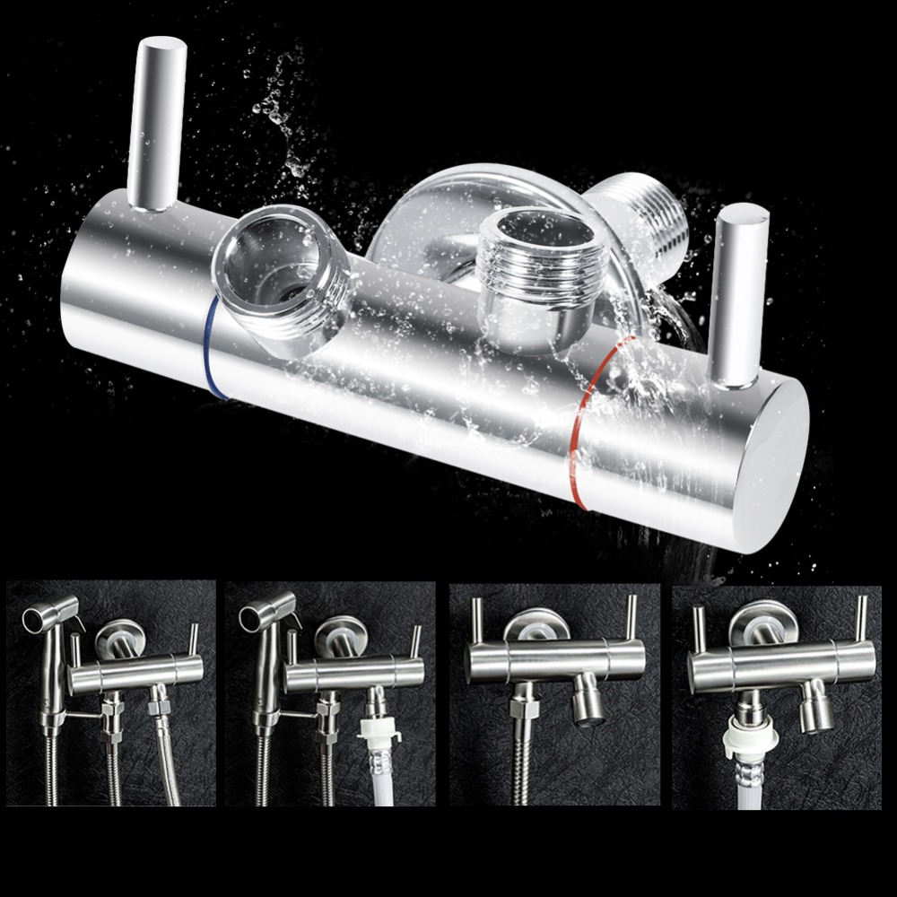 Double Head Function Switch Adapter Control Valve Connector Shower Head Diverter Valve For shower faucet